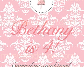 Sweet Ballerina Printable Sign - PDF