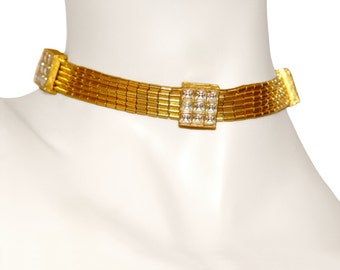 Kenneth Lane Necklace, Rhinestone Choker, Signed K.J.L. Rare, Collectible, Vintage 1960s