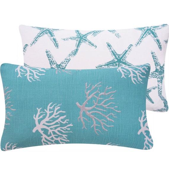 Beach Decor Coastal Pillow In 12x20 Lumbar By