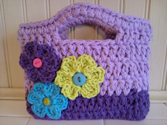 Toddler Crochet Purse Pattern : Toddler purse little girl purse purse flower purse purple