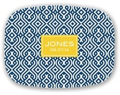 Personalized Melamine Platter- Imperial Trellis- Customize Colors