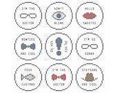 DOCTOR WHO Miniature Ornament Treasury - Set of 50 Mini Cross Stitch Charts