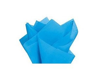 120 sheets of tissue paper -- TURQUOISE