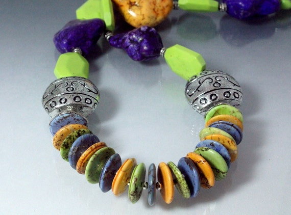Multicolor Turquoise Southwestern Necklace