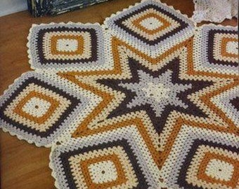 Crochet Pattern rug for patio, bathroom or home. Pdf files