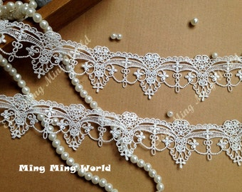 Ivory Lace Trim- 2 Yards Ivory Palace Hanging Ornament Lace Trim(L372)