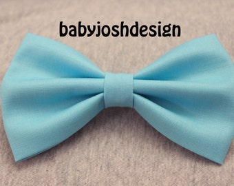 Bahama Blue Fabric Hair bow for teens or women,girls hair bows,basic hair bows , Hair Bows