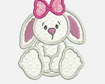 Bunny Rabbit...Embroidery Applique Design...Three sizes for multiple hoops...Item1465...INSTANT DOWNLOAD