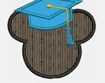Mouse Graduate...Embroidery Applique Design...Three sizes for multiple hoops...Item1513...INSTANT DOWNLOAD