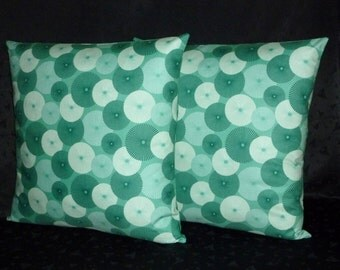 Decorative Pillows, Throw Pillows, Pillow Covers - Two 18 Inch - Teal Emerald Green