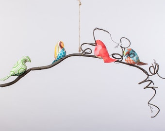 Hendrix Collection - Single or Double Tier Bird Mobile