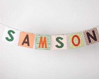 Custom Fabric Name Banner in the SAMSON Collection