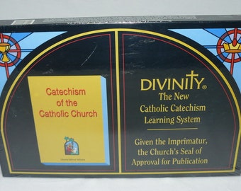 Divinity The New Catholic Church Catechism Learning System Board Game NEW - Sealed 1991