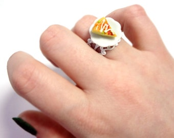 Pizza Lovers Gift - Ring - Pizza Lovers - Adjustable