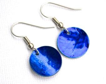 Dark Blue Shells . Earrings . Marina Collection
