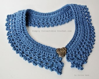 Crochet Pattern Collar - Photo Tutorial and Diagram included - Large and Small p139