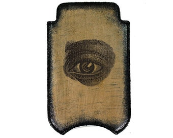iPhone Leather Sleeve - Eye