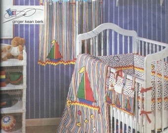 Vintage Simplicity Pattern No. 8844 for Baby Nursery Crib Layette with Appliques One Size