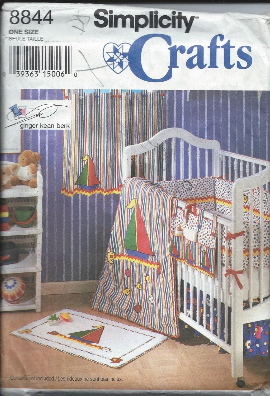 Vintage Simplicity Pattern No 8844 For Baby Nursery Crib