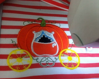 Cinderella Princess Pumpkin Carriage - link to comparable horse included - machine embroidery applique designs, 4x4, 5x7, 6x10
