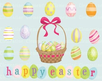Easter clip art images, easter clipart, easter egg clip art, easter basket clip art - Instant Download