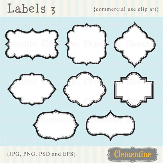 Labels 3 Printable labels clip art images, scrapbook clip art ...