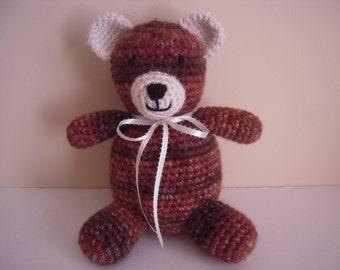 Crocheted Stuffed Amigurumi Chunky Yarn Bear