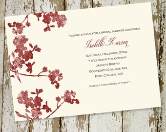 bridal shower invitation floral baby girl shower sprinkle couples coed rehearsal dinner engagement baptism item 339 shabby chic invitations