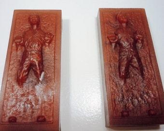 2 Han Solo in Carbonite Vegan Soaps - YOU PICK SCENT- Vegan Star Wars Birthday