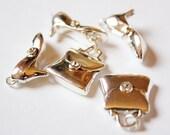 5 Swarovski Crystal Handtasche und Ferse Charms