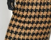 the Saturday morning Skirt....Houndstooth...Vintage Gold Black Classic French Houndstooth Apparel