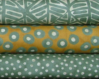 SALE Simple Marks Half Yard Bundle of 3 in Pebble and Gold by Malka Dubrowsky for Moda