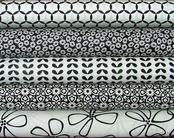 Fat Quarter Bundle of Shades of Black in Black by Me & My Sister Designs for Moda