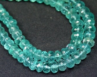5mm to 6mm APATITE bead necklace on serapha AP012