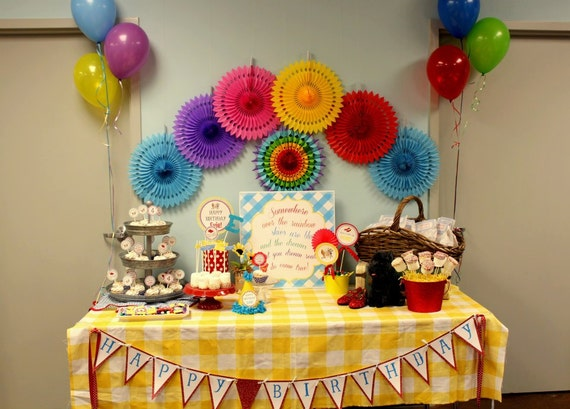 DIY, Wizard of Oz Inspired Birthday PARTY PACK