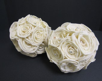 Sola flower ball decorations - Set of two