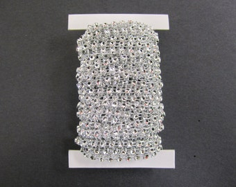 Darice® Bling on a Roll - Silver - 1 row - 4mm x 10 yards
