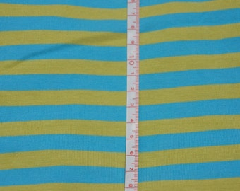 "Euro Limeade. 3/8"" Cotton Lycra STripe Knit Fabric"