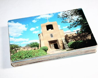 100 Vintage New Mexico Chrome Postcards Blank - Travel Themed Wedding Guestbook