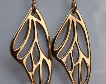 Bronze Butterfly Wing Earrings, dangle earrings,drop earrings, butterfly wing earrings, bronze earrings, gift idea