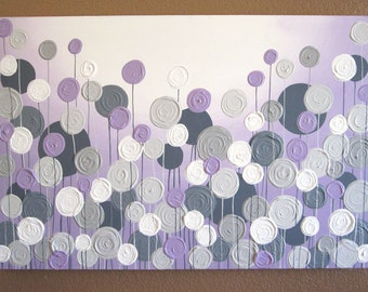 Purple And Grey Wall Art wall art lavender purple and grey modern nursery art