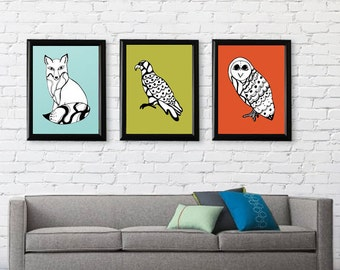 Tribal Animal Art Print Series // FREE SHIPING