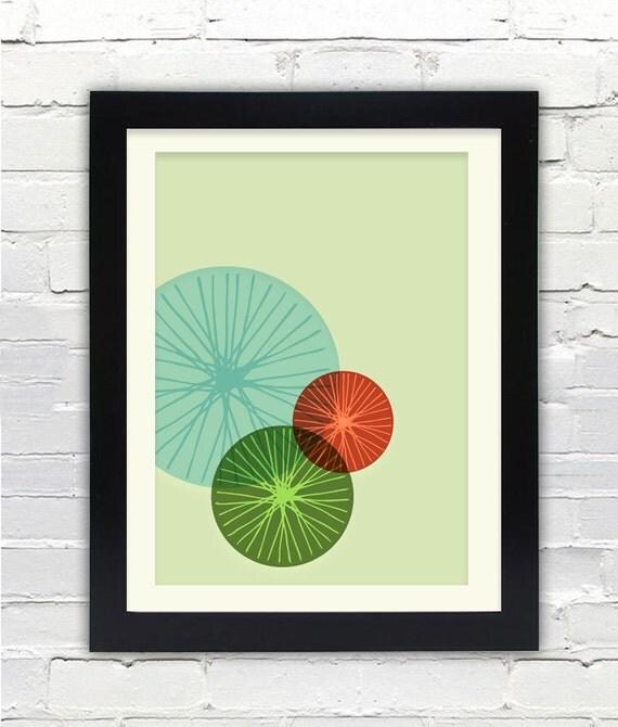 Mid Century Modern Bike Art Print //  Free Shipping