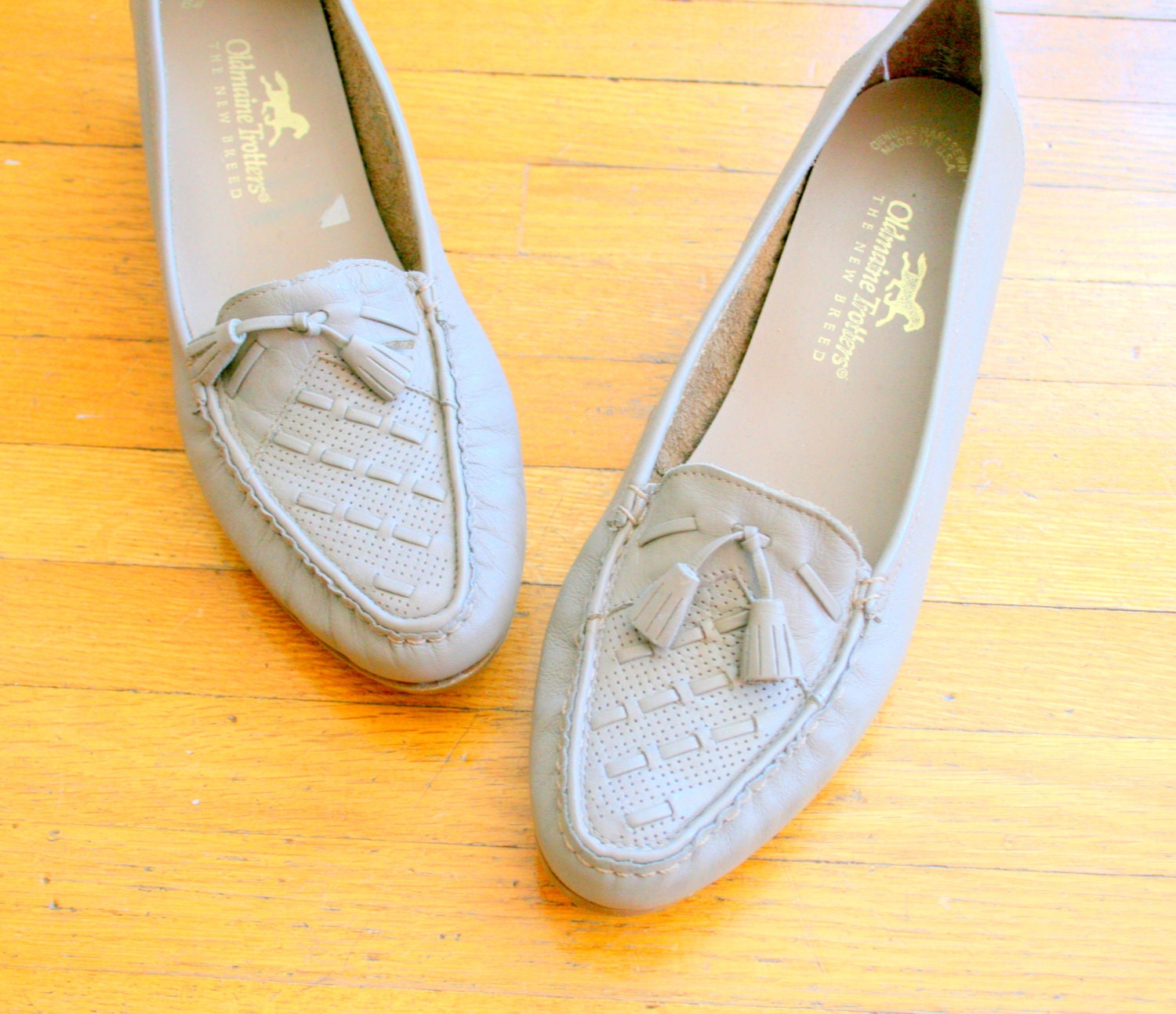 1960s NUDE LOAFERS by Oldmaine Trotters.....size 10 by ...