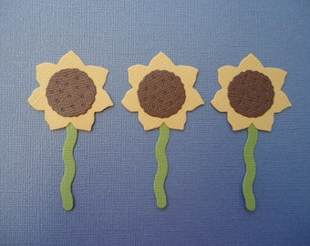 6 Sunflower Die Cuts for Cards Scrapbooking and Paper Crafts