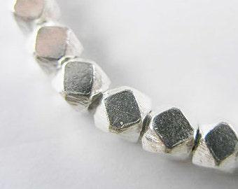 10 of Karen Hill Tribe Silver Facet Beads 4.5 mm. :ka3413m