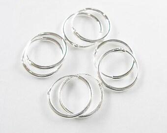 4 pairs of 925 Sterling Silver Little Hoop Earrings 11.5mm. :th1544