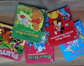 5 Vintage Children's Books Tell-A-Tale Mickey Mouse Mouseketeers Pluto Dalmations Pooh Scrapbooking