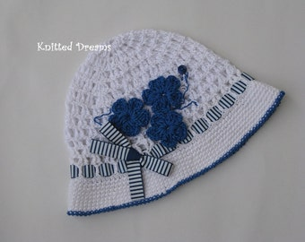 Summer crochet cotton sea hat for girls.