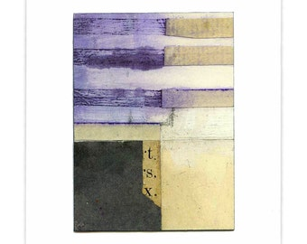 abstract collage - Casiotown III - framed original art